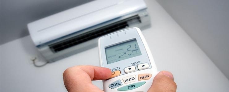 adjusting temperature to 21 degrees