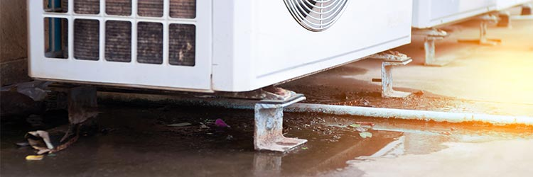 leaking air conditioning unit