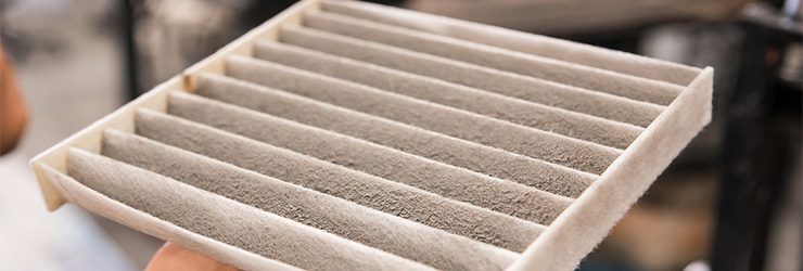 blocked air filter