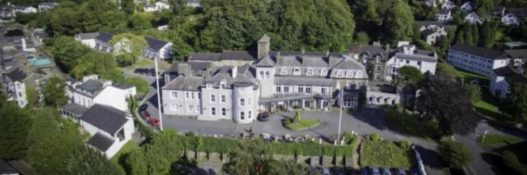 Ariel view Bowness hotel